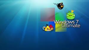 Windows 7 angry birds edition wallpaper