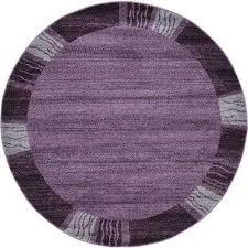 del mar sarah purple 6 0 x 6 0 round rug