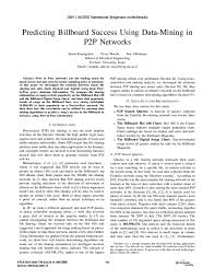 Pdf Predicting Billboard Success Using Data Mining In P2p
