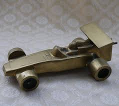brass racing car f1 gift vintage brass f1 decor gift for him
