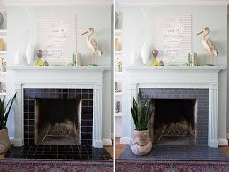 i m so happy i was able to use these l and stick tiles to transform my old tile fireplace i have had such a hard time with this room because it felt