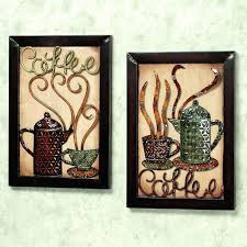 coffee wall decor kitchen art ideas hot looking metal themed cup