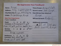 Restaurant Survey Cards 13 Hilarious And Sassy Examples Of Customer Feedback