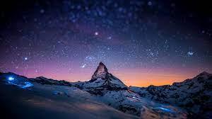 Night view of sky full of stars