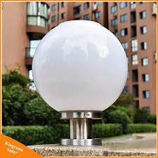 Pillar Solar Lights For Outdoors Hot Item Round Ball Solar Pillar Lamp Outdoor Led Garden Post Light
