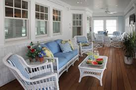 white beach furniture. Summer Decors Infused With White Wicker Furniture : Beach Style Home H