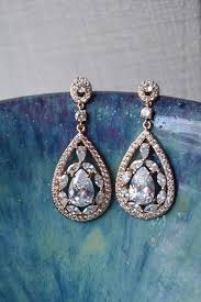 best of rose gold bridal chandelier earring statement earring rhinestone for bridal chandelier earrings