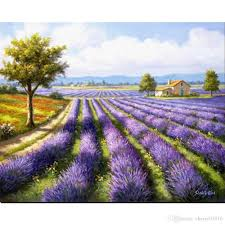ful oil paintings by sung kim garden landscapes lavender rows handmade modern art for wall decor from cherry02016 108 55 dhgate com