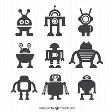 ベクターロボットシルエットコレクション ベクター画像 無料ダウンロード