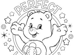 Small Picture Perfect Harmony Care Bears Coloring Page AG Kidzone