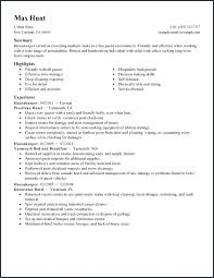 Housekeeping Resume Examples Gorgeous Housekeeping Resume Sample From Self Employed Template Cv