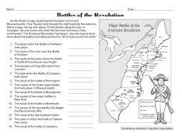Battles Of The American Revolution Social Studies