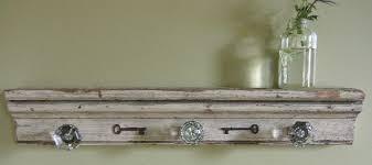 Knob Coat Rack Antique Glass Door Knob Coat Rack on Reclaimed Wood with Skeleton 6