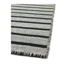 black and white striped rug ivory ikea gray
