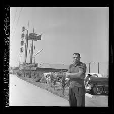 woodley lewis outside the sportsman bowl bowling alley in 1962 credit los angeles times photographic archive charles e young research library ucla