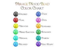 Mirage Mood Beads Chart Mood Ring Color Chart Mood Ring