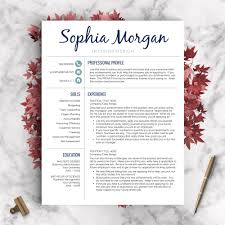 Creative Resume Template The Sophia