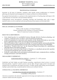 Chronological and Professional Dentist Resume Sample   Eager World