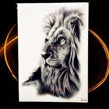 горячий черный татуировки мужчины женщины животных африка серенгети лев