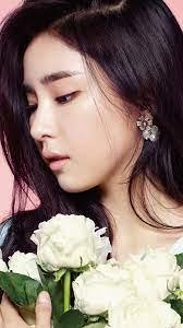 girl-korean-kpop-saekyung-flower-wallpaper