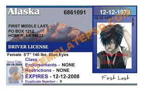 Is State usa photoshop License Template Alaska Drivers This Psd qdCvtwqp