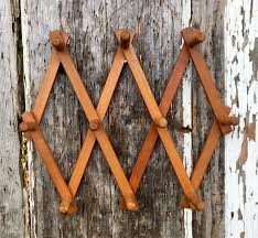 Expandable Wooden Coat Rack Vintage Wooden Accordion Wall Peg Rack Wooden Coat Hooks Small 83