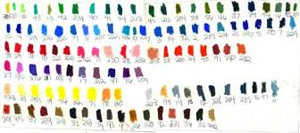 Oil Pastel Color Charts Wetcanvas
