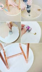 diy copper pipe side table from brit co by chelsea mohrman i did mine