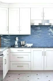 Kitchen With Glass Tile Backsplash Extraordinary Blue Kitchen Glass Tiles Subway Tile Grey Backsplash For Cabinets