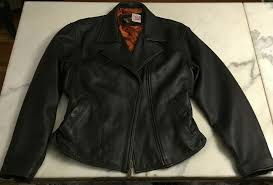 details about harley davidson womens leather motorcycle jacket dark brown large