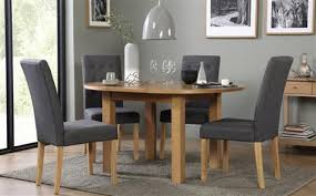 harrington round extending dining table with 4 regent slate chairs