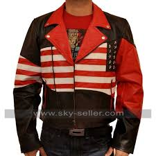 american flag men s independence day leather jacket america flag mens brando biker leather jacket