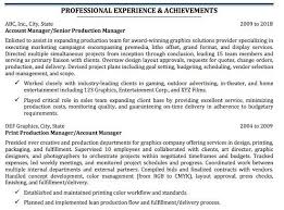Production Manager Resumes Resume For Printing Industry Print Shop Resume Ihireprinting