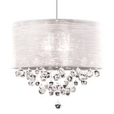full size of lighting appealing white drum shade chandelier with crystals 14 new lite silk silver