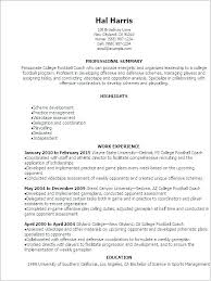 Football Coaching Resume Samples Feat Soccer Player Template