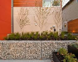 gabian basket landscape | Home Accessories  Gabion Baskets Seattle For  Contemporary Landscape .