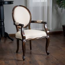 dining room solid beige fabric oak wood single captain dining chair greatdealfurniture queenannestyle