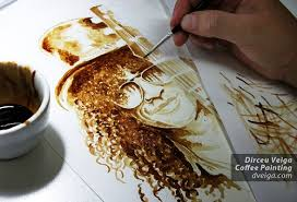 coffee art painting. Beautiful Art Coffee Paintings  Portraits U2013 A4 Size With Art Painting N