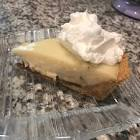 banana cream pie with chocolate lining
