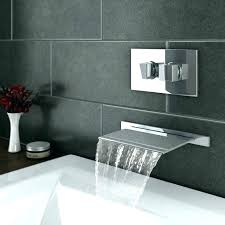 wall mounted waterfall tub faucets plaza bath filler concealed thermostatic mount roman faucet hand shower