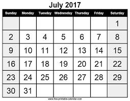 Free printable calendar july 2017 - Free-printable-calendar.com