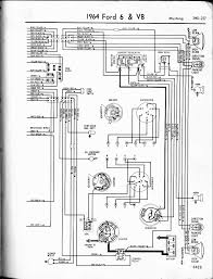 57 65 ford wiring diagrams Ford 302 Ignition Wiring Diagram 1964 6 & v8 mustang right