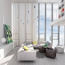 Luxurious Living Room - White Interior Design Style - RooHome ...