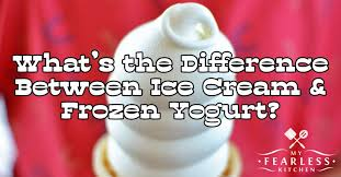 what s the difference between ice cream and frozen yogurt my fearless kitchen