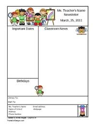 word document newsletter templates super cute free two page template for a classroom newsletter ms