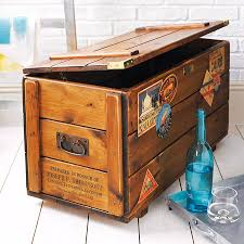 Steamer Trunk Furniture Personalised Steamer Travel Chest Vintage Storage Trunk By