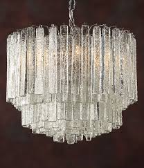 murano glass chandelier six light chandelier made of 169 individual pieces of hand