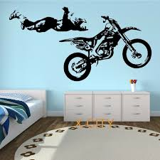 motocross stunt motorbike mx x games street cool creative wall sticker vinyl art decal window stencil on motorbike wall art australia with motocross stunt motorbike mx x games street cool creative wall