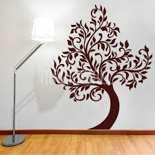 beautiful waving tree wall decals stickers