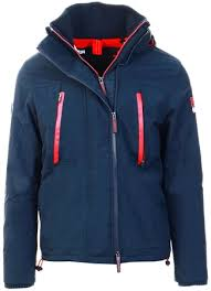 Superdry Windcheater Size Chart Navy Red Hooded Polar Windattacker Jacket L